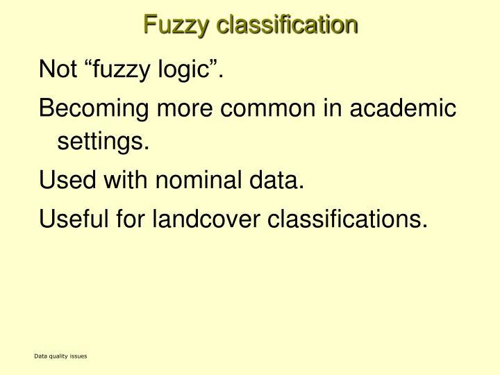 Fuzzy classification