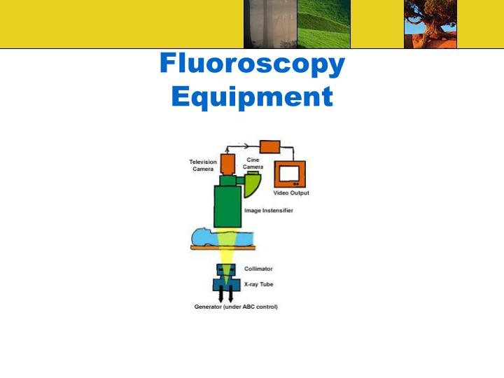 fluoroscopy equipment n.