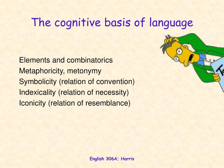 the cognitive basis of language n.