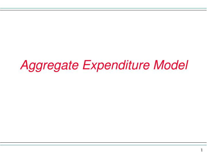 aggregate expenditure model n.