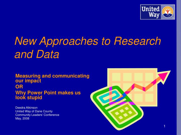 new approaches to research and data n.