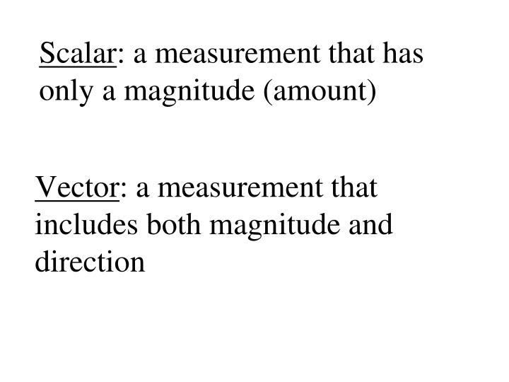 vector a measurement that includes both magnitude and direction n.