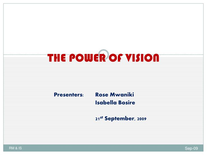 the power of vision n.