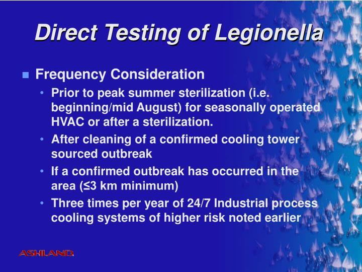 Direct Testing of Legionella