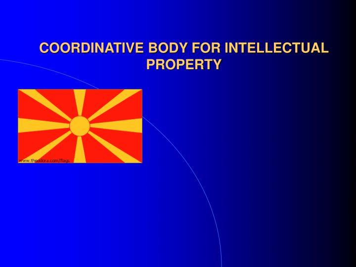 coordinative body for intellectual property n.