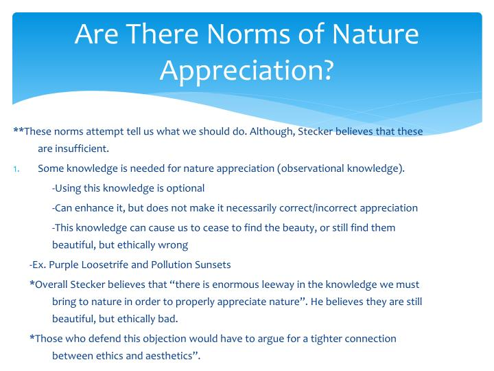 Are There Norms of Nature Appreciation?