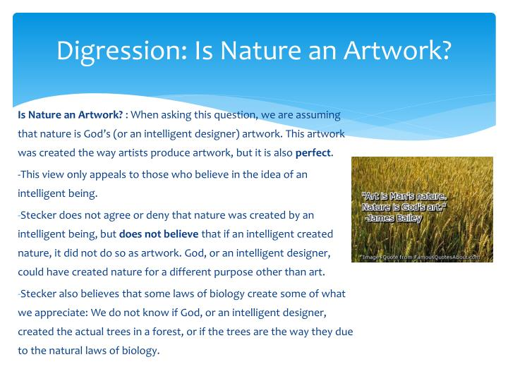 Digression: Is Nature an