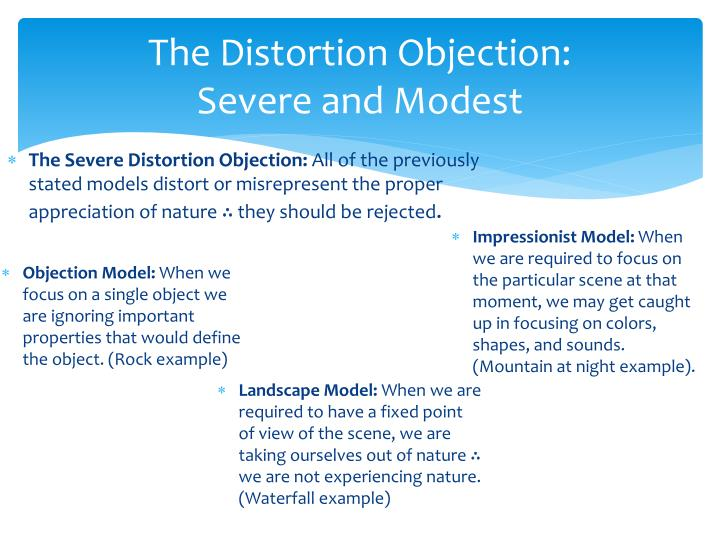The Distortion Objection: