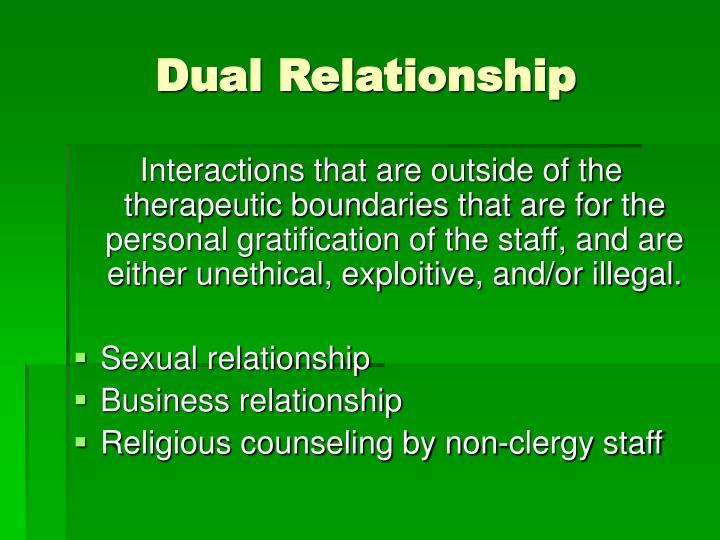 Dual Relationship