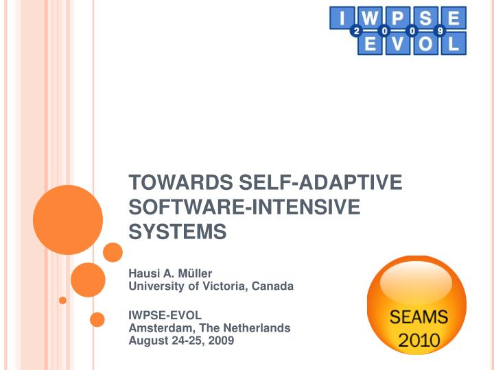towards self adaptive software intensive systems n.