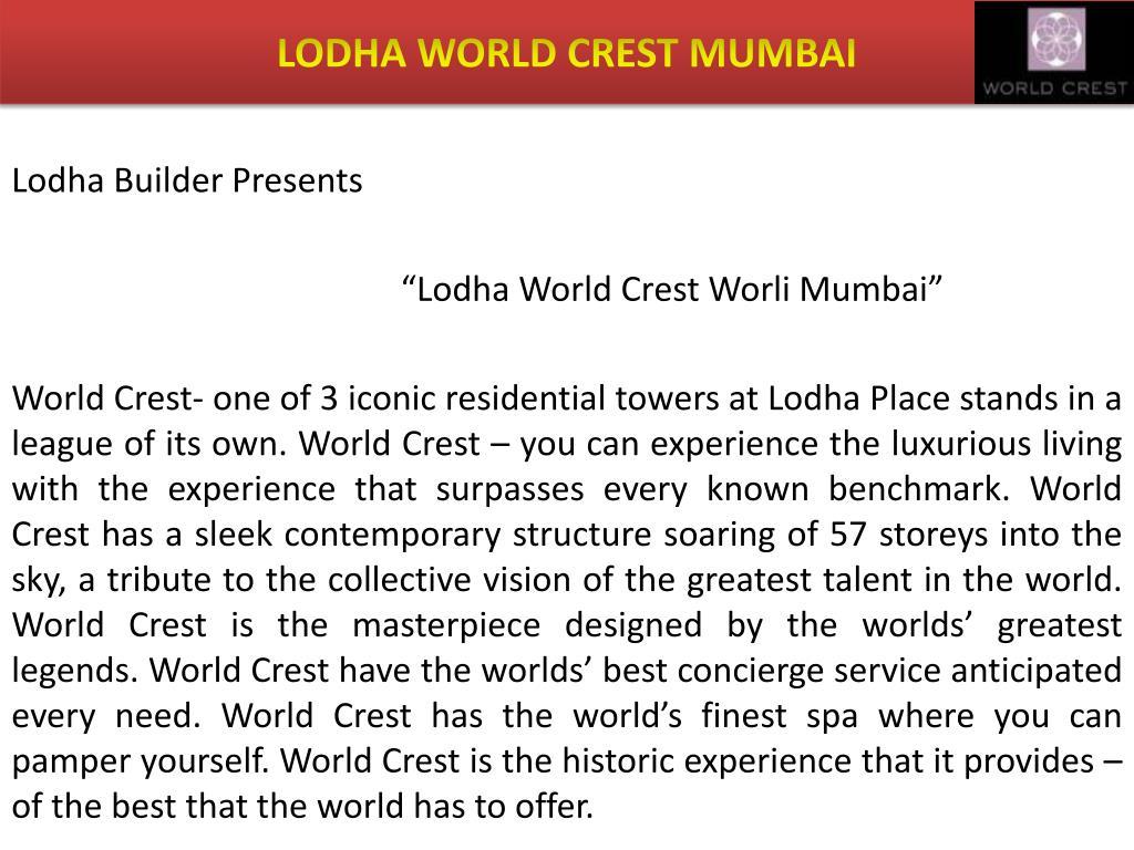 LODHA WORLD