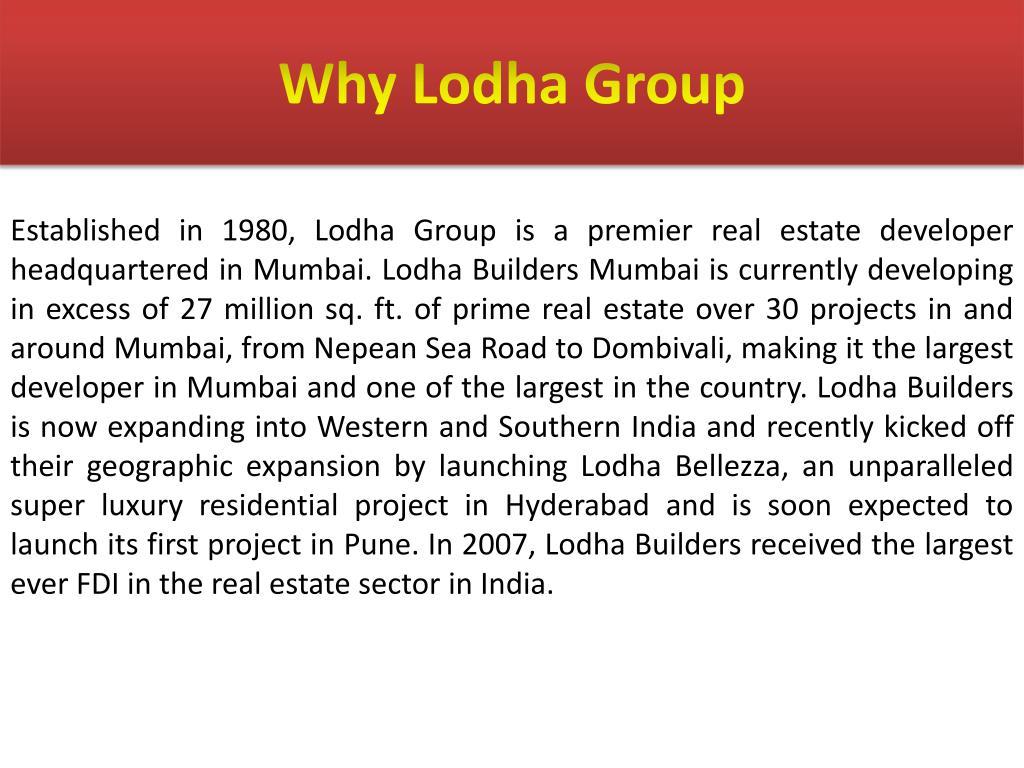 Why Lodha Group