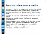 importance of marketing in retailing