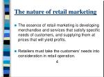 the nature of retail marketing2