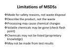 limitations of msdss