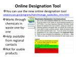 online designation tool