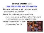 source wastes cont wac 173 303 082 wac 173 303 9904