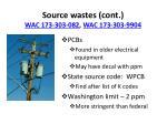 source wastes cont wac 173 303 082 wac 173 303 99041