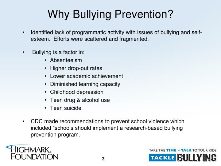 why schools should implement bullying awareness