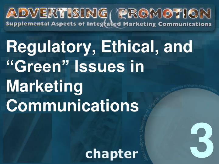 regulatory ethical and green issues in marketing communications n.