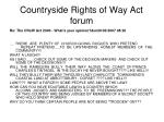 countryside rights of way act forum1