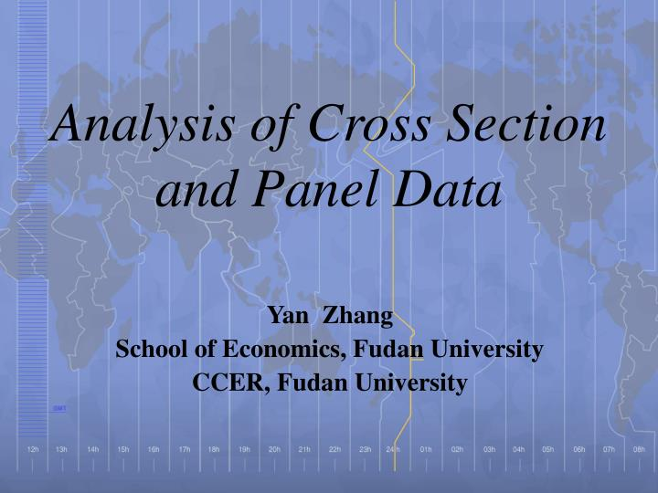 analysis of cross section and panel data n.
