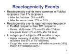 reactogenicity events