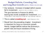 budget deficits crowding out and long run growth