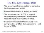 the u s government debt