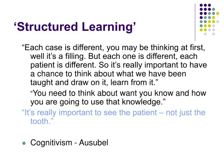 'Structured Learning'