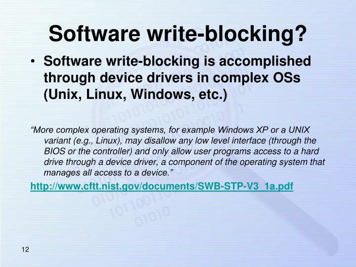 Software write-blocking?