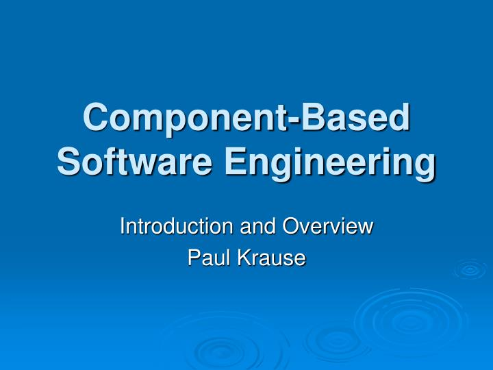 component based software engineering n.
