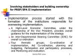 involving stakeholders and building ownership for prsp spa ii implementation