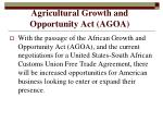 agricultural growth and opportunity act agoa