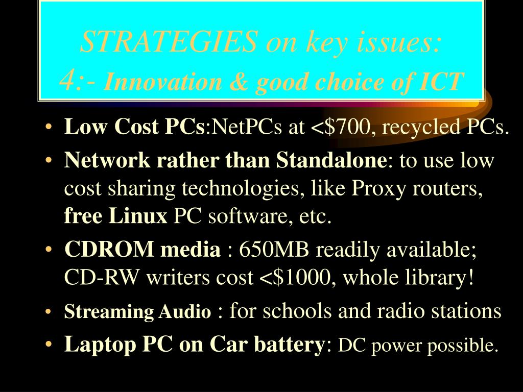 STRATEGIES on key issues: