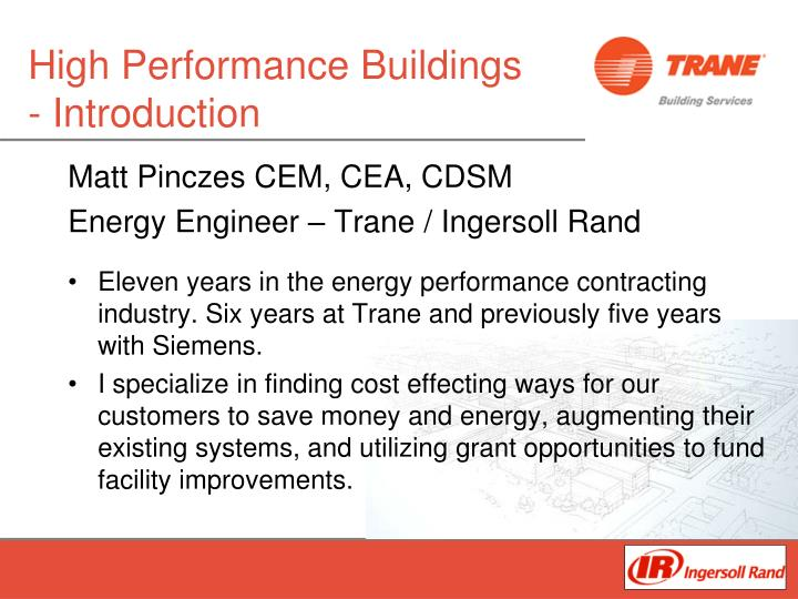 high performance buildings introduction n.