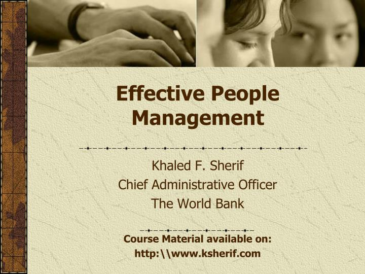 effective people management n.