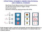 structural dynamics underlying physical and chemical changes