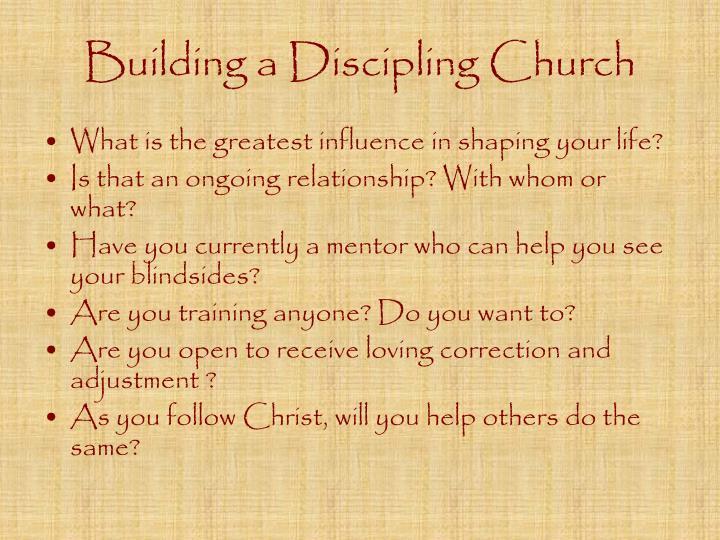 Building a Discipling Church