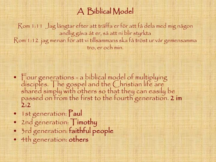 A  Biblical Model