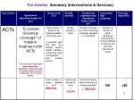 the gambia summary interventions services