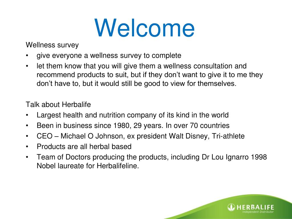 PPT - Herbalife Sampling Party PowerPoint Presentation - ID