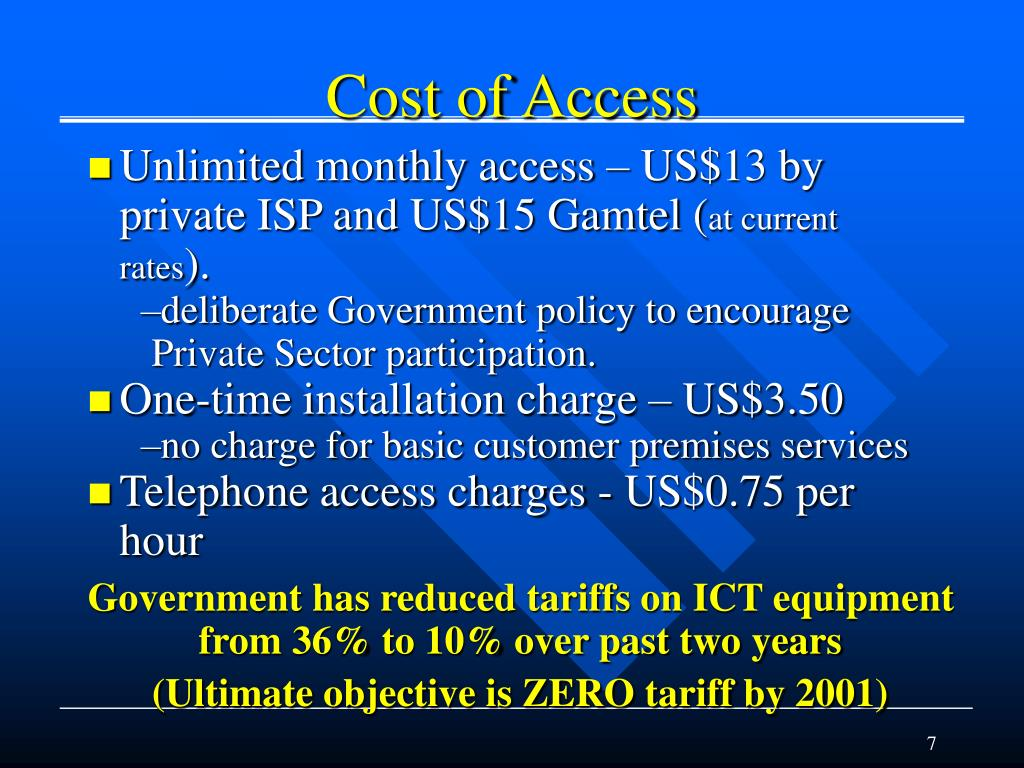 Cost of Access