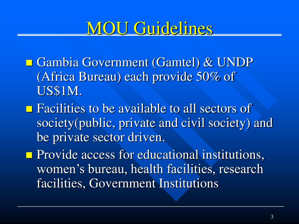 MOU Guidelines