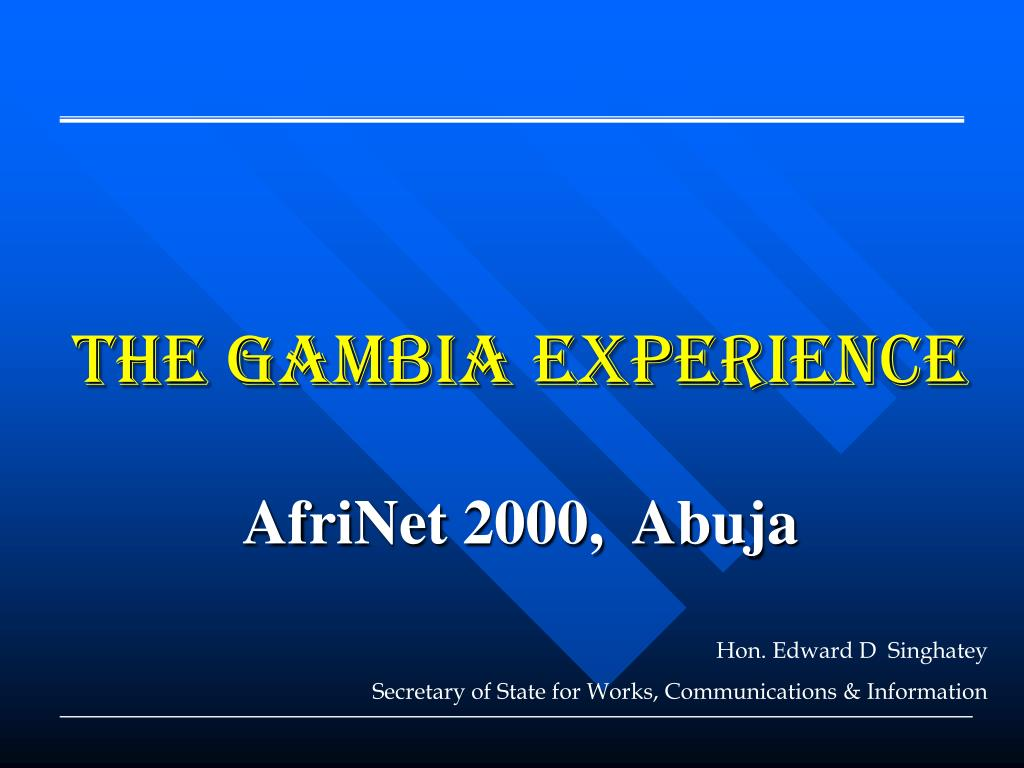 the gambia experience l.