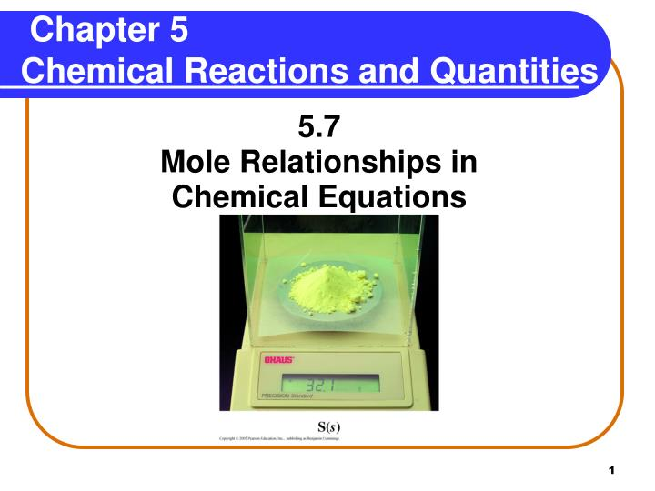chapter 5 chemical reactions and quantities n.