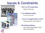 issues constraints16