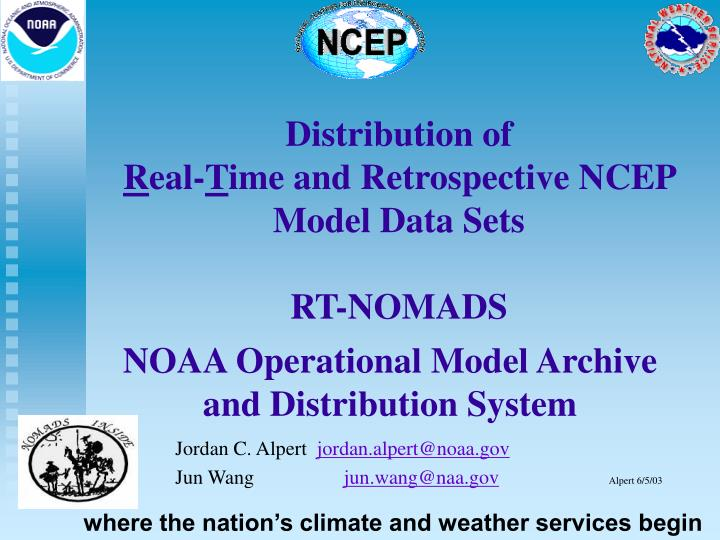 noaa operational model archive and distribution system n.