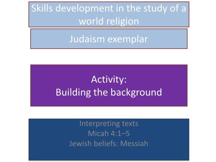 Judaism exemplar