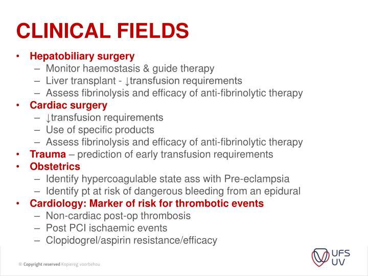 Clinical fields